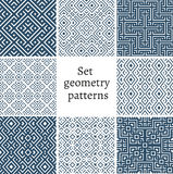 Set of ornamental patterns for backgrounds and textures Royalty Free Stock Photography