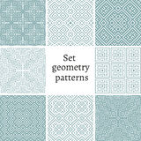 Set of ornamental patterns for backgrounds and textures Royalty Free Stock Photo