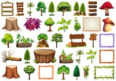 Set of ornamental plant. Illustration vector illustration