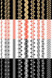 Set of ornamental ribbons Royalty Free Stock Photo