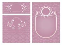 Set of ornamental roses, templates Royalty Free Stock Photos