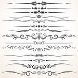 Set of Ornamental Rule Lines in Different Designs Royalty Free Stock Photo