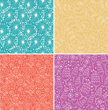 Set of ornamental seamless floral patterns Royalty Free Stock Photos