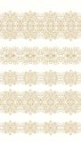 Set of ornamental  seamless ribbons in arabic style Royalty Free Stock Photography