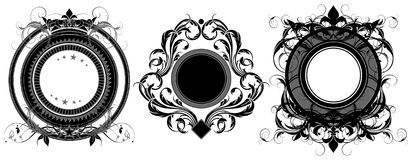 Set of ornamental shields Royalty Free Stock Photo