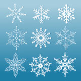 Set of ornamental snowflakes Stock Photo