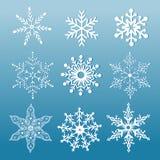 Set of ornamental snowflakes Stock Photo