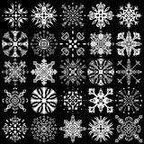 Set of ornamental snowflakes Royalty Free Stock Photos