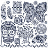 Set of ornamental tribal elements and symbols Stock Photography