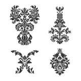 Set of ornamental vector damask elements Royalty Free Stock Photo