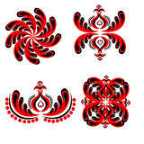 Set of ornamental vector elements. Vector ornament elements in ethnic style Stock Photo