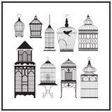 Set of ornamental vintage birdcage Stock Photos
