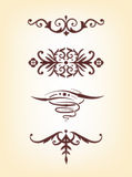 Set of ornaments Royalty Free Stock Photo