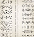 Set of ornaments  Stock Images