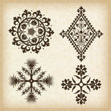 Set of  ornaments. Royalty Free Stock Photos