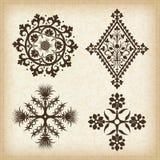 Set of  ornaments. Set of  decorative ornament elements Royalty Free Stock Photos