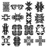 Set of ornaments4 Royalty Free Stock Images