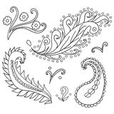 Set of ornaments Royalty Free Stock Images