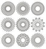 Set ornamenty Obraz Stock
