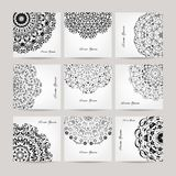Set of ornate cards for your design Royalty Free Stock Images