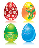 Set of ornate Easter eggs Stock Photo