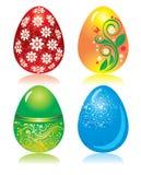 Set of ornate Easter eggs Stock Photo
