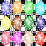 Set of ornate Easter eggs Stock Images