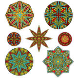 Set Of Ornate Ethnic Forms Royalty Free Stock Image