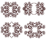set of ornate floral frames. Stock Photo