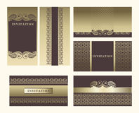 Set of ornate  frames. Royalty Free Stock Image