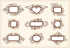 Set of ornate frames Stock Photography