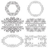 Set of ornate frames Stock Photo