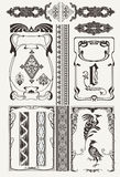 Set Of Ornate Frames Art-Deco Style Stock Photo