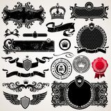 Set of ornate frames and elements Stock Photos