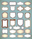Set of ornate frames. Vector illustration Royalty Free Stock Image