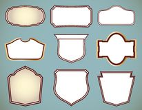 Set of ornate frames. Vector illustration Royalty Free Stock Photos