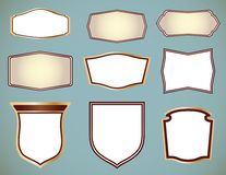 Set of ornate frames. Vector illustration Stock Image