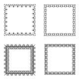 Set of ornate frames. Royalty Free Stock Photo