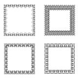 Set of ornate frames. Stock Image