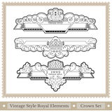 Set of ornate headpieces royal style - great chapter dividers Royalty Free Stock Image