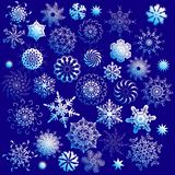 Set of ornate snowflakes. Illustration Stock Images