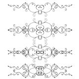 Set of ornate swirl design elements Royalty Free Stock Image