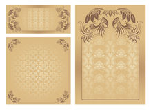Set of ornate  template Stock Image