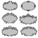 Set of ornate vector frames Royalty Free Stock Photo