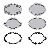 Set of ornate vector frames Royalty Free Stock Photos