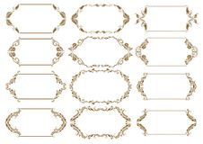 Set of ornate vector frames Stock Photos
