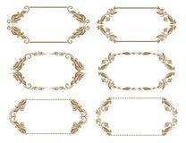 Set of ornate vector frames Stock Image