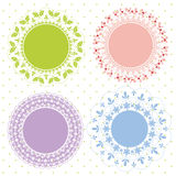 Set of ornate vector frames Royalty Free Stock Photography