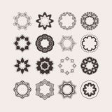 Set of ornate vector mandala borders and frames. Gothic lace tattoos. Celtic weave with sharp corners. Stock Photography