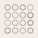 Set of ornate vector mandala borders and frames. Gothic lace tattoos. Celtic weave with sharp corners. Stock Photo